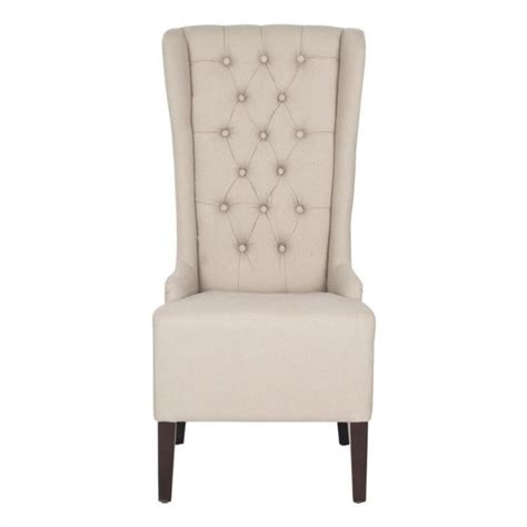 safavieh becall birch dining chair in taupe mcr4501m