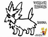 Pokemon Coloring Herdier Pages Victini Sharp Swoobat Yescoloring sketch template