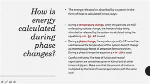 Ap Chem Enthalpy Of Phase Changes