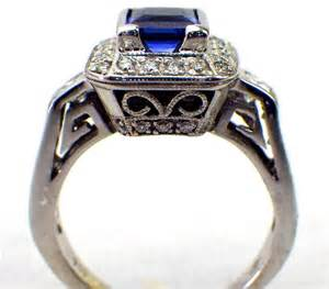 trio wedding ring sets jared jared 39 s sapphire engagement ring 18k white gold 68 tradesy weddings
