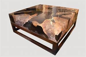 andrianna shamaris cracked resin coffee table for sale at With wood and resin coffee table