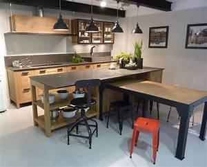 Meuble Cuisine Style Industriel : cuisine sur mesure style industriel traditionnel ou contemporain ~ Teatrodelosmanantiales.com Idées de Décoration