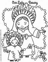 Coloring Rosary Lady Catholic Pages Adult Wordpress Activities Crafts sketch template