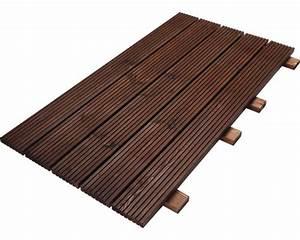 Terrassenfliesen Holz Klicksystem Verlegen : holzfliese 63 x 116 cm braun bei hornbach kaufen ~ Michelbontemps.com Haus und Dekorationen