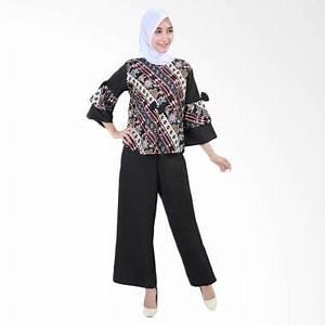 Jual Daily Deals - Jfashion Blouse Batik Dan Celana Kulot Setelan Pakaian Anak - Ayu Hitam ...