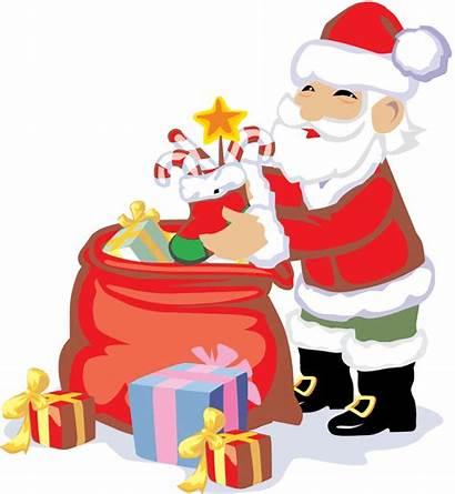 Christmas Santa Presents Clip Clipart Happy Holidays