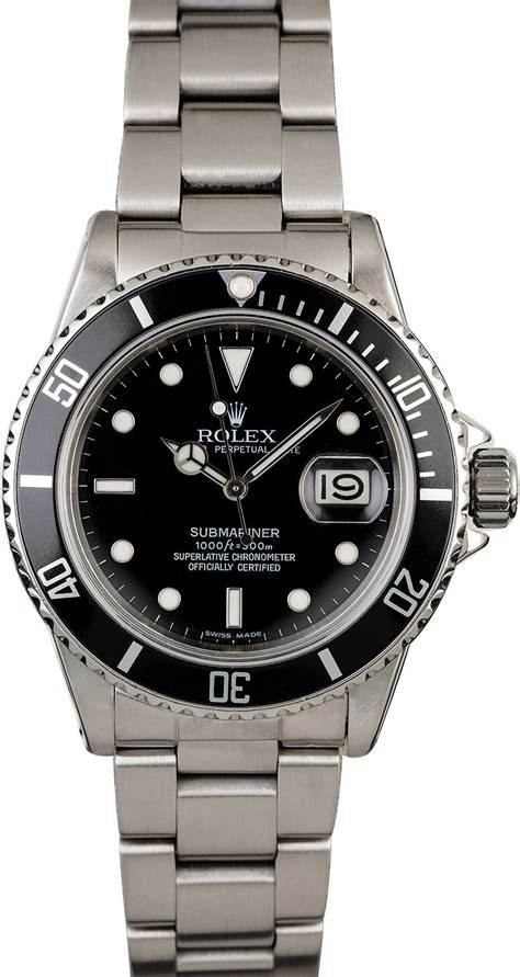 Buy Used Rolex Submariner 16800 | Bob's Watches - Sku: 126135