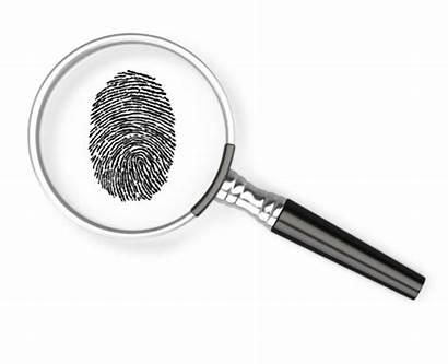 Magnifying Glass Fingerprint Governance Hands Prints Dusting