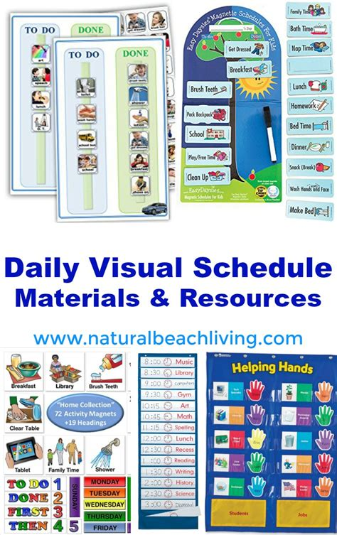 perfect morning routine visual schedule printables