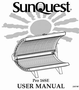 1999 Sunquest Pro 16se - Tanning Bed Parts