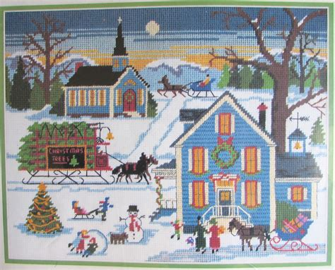 Dimensions New England Christmas Needlepoint Kit New Wysocki