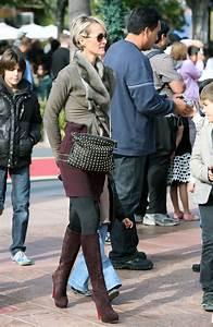Laeticia Hallyday Knee High Boots Laeticia Hallyday Boots Looks StyleBistro