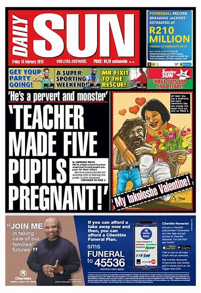 Headlines Today Newspaper Sa February Sun Daily
