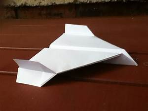 How To Make A Paper Plane  With Wing Flaps Up And Down