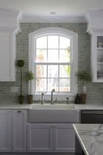 kitchen window backsplash green brick backsplash tiles transitional kitchen fiorella design