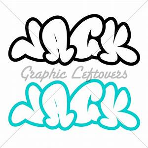 The Name Jack In Graffiti Style · GL Stock Images