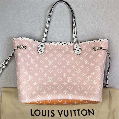 louis vuitton giant monogram red pink neverfull mm tote bag handbagholic
