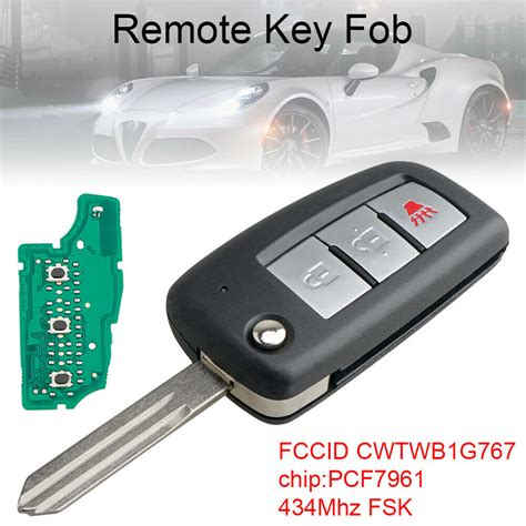 nissan rogue fob key remote entry flip chip pcf7961 434mhz 3buttons oem
