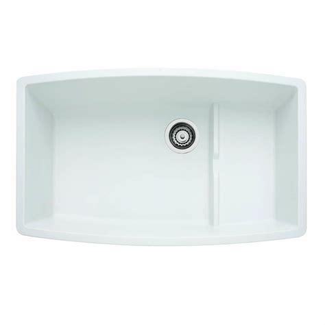 blanco composite kitchen sinks blanco performa cascade undermount granite composite 32 in 4775