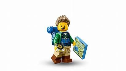Lego Minifigures Hiker Transparent Serie Collectible Clipart