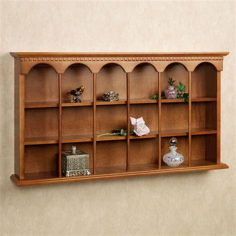 decorative wall curio cabinets mackenzie wooden wall curio display shelf