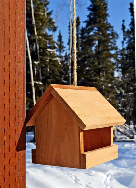 ana white kids kit project  cedar birdfeeder diy