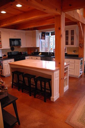 Post & Beam: Kitchen   White beadboard kitchen with