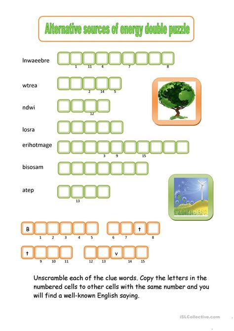 alternative sources  energy double puzzle worksheet