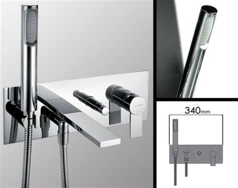 Wall Mounted Bath Filler And Shower by Loft Wall Mounted Bath Filler With Shower Livinghouse