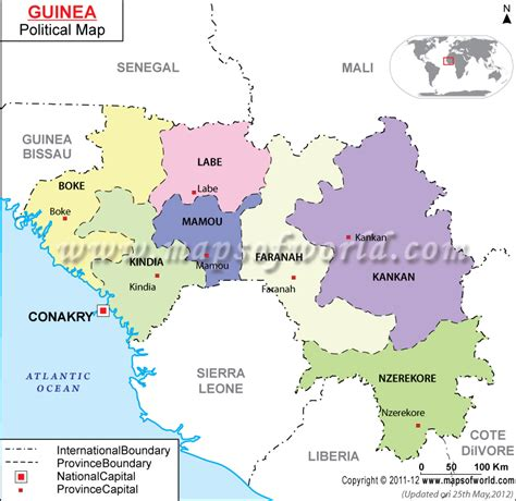 Guinea Political Map