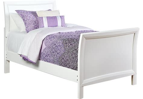 girls white bed league white 3 pc sleigh bed beds colors 11694