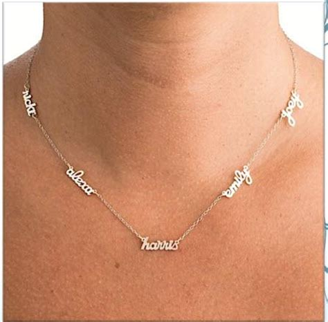 multi  necklace add   kids names