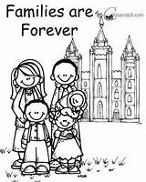 Coloring Forever Lds Together Families Primary Nursery Church Lesson Lessons Printable Clipart Quotes Temple Activities Ones Behold Evening Para Leerlo sketch template