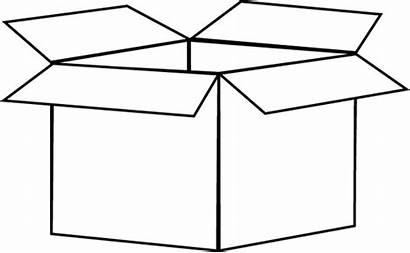 Box Clipart Clip Square Outline Cardboard Transparent