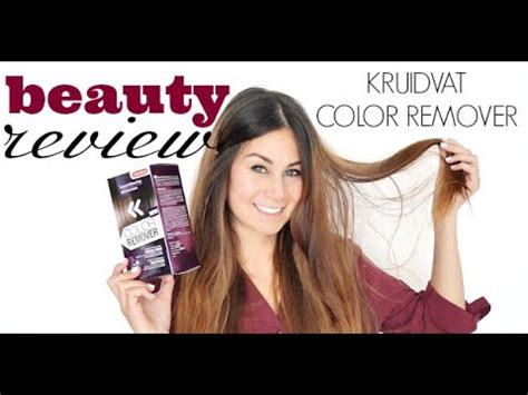 review kruidvat color remover youtube