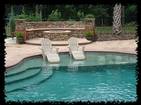 Tanning In The Backyard - inground pool with tanning ledge pools pools