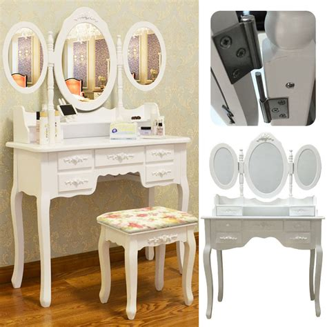 Shabby Chic Makeup Vanity Table - shabby chic dressing table vanity makeup with 7 drawers 3