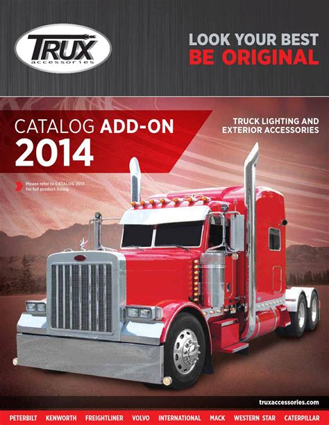 kenworth accessories catalog trux accessories 2014 catalog add on by trux accessories