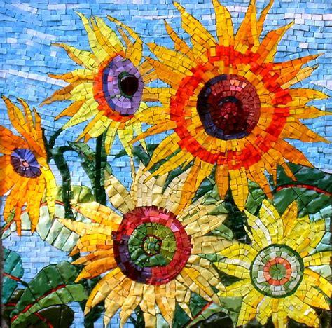 incredible sunflower mosaic mosaicflowers mosaicart