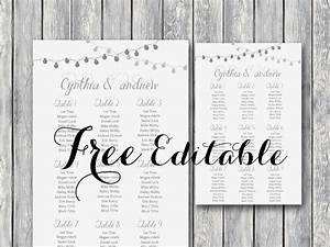 free night light wedding chart printable bride bows With bridal shower seating chart template