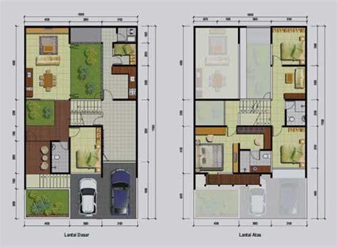 desain  denah rumah minimalis ukuran    meter