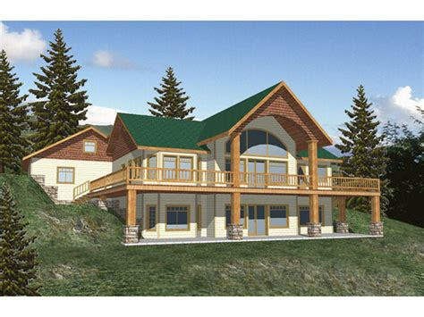 daylight basement homes morelli waterfront home plan 088d 0116 house plans and more