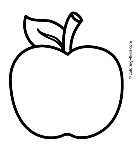 Apple Fruits Coloring Pages Nice For Kids Printable Free