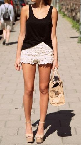Skinny Loose Crochet Jeans Lacy Tank with Short Ideas u2013 Designers Outfits Collection