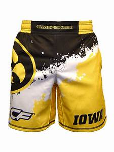 Cage Fighter 2015 NCAA Iowa Splatter Shorts