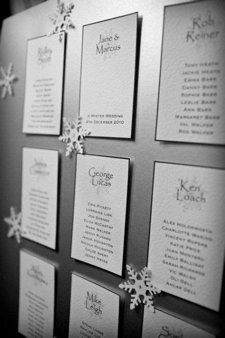 Snowflake Winter wedding table plan | wedding:) | Wedding
