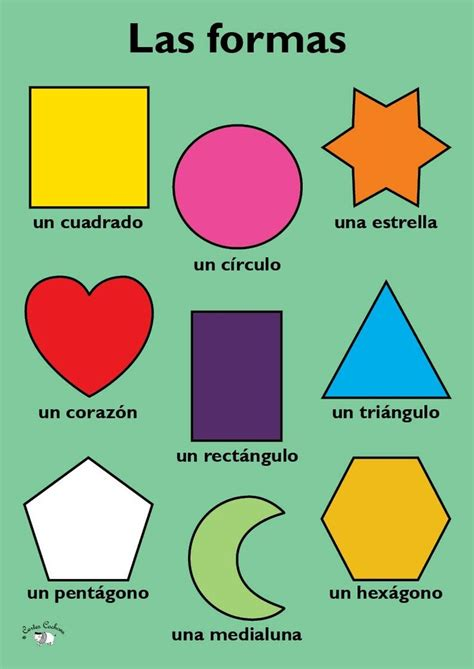 Shapes in Spanish   French teaching resources, Teaching ...