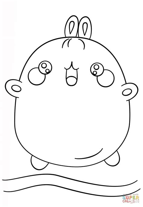kawaii molang coloring page  printable coloring pages
