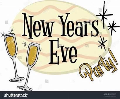 Eve Years Clipart Header Invitation Graphic Retro