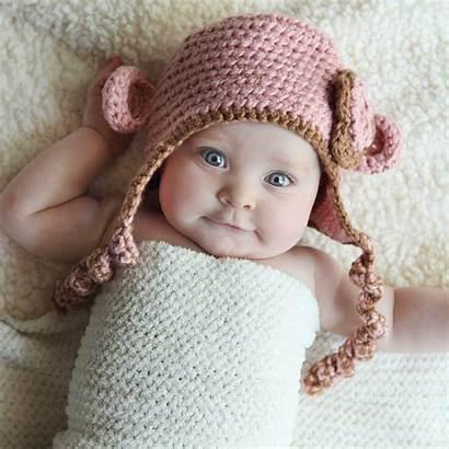 Babies Monkey Eyes Hat Adorable Super Portrait